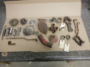 Ford 8n Tractor Part Lot Brake Throttle Hitch Engine Parts C details Pics