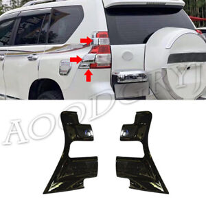 For Toyota Prado Fj150 2014 2017 Glossy Black Rear Taillight Moulding Trim Cover