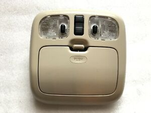 2001 2012 Ford Escape Dome Light Overhead Console W Sunroof Switch Oem Beige