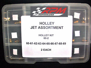 Holley Jet Kit Assortment Carburetor Carb 60 69 2 Each Gas Main 20 Pack 60 2