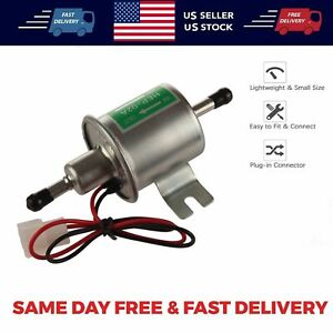 Inline Fuel Pump 12v Electric Transfer Universal Low Pressure Gas Diesel Hep 02a