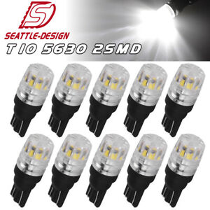 10x T10 921 168 Wedge Led Trunk Dome Map License Light Bulb 192 W5w 6000k White