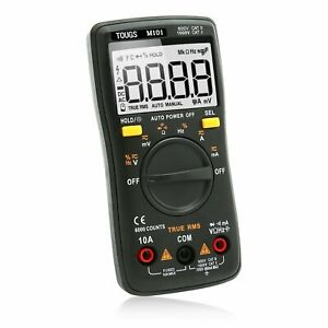 Digital Multimeter Auto ranging Counts Electricians Pocket Tester Lcd Backlight