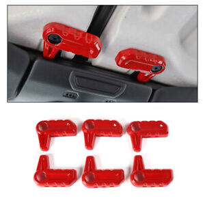 6x Car Hardtop Release Switch Cover Roof Remove Trim For Jeep Wrangler Jl 2018