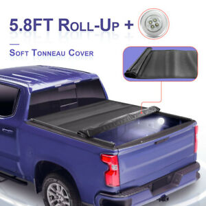 Roll Up Tonneau Cover For 2009 2020 Dodge Ram 1500 Crew Cab 5 7 5 8 Ft Short Bed