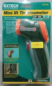 Extech 42510a Wide Range Mini Ir Thermometer 58 To 1200 f 12 1 s10