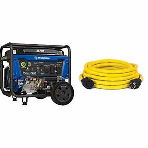 Wgen7500 Portable Generator With Remote Electric Start 7500 Rated Watts 950