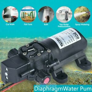 70w Automatic Diaphragm Pump 12v 6l min Mini Sprayer Self priming Water Pump New