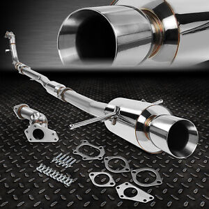 For 02 07 Wrx sti Gd gg Bolt on Turbo Catback up down Pipe Exhaust 4 rolled Tip