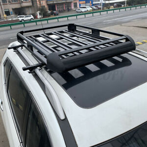 50 X38 Universal Roof Rack Luggage Hold Cargo Car Top Carrier Basket Suv Truck