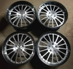 Russtec Forged Wheels Rims 19 Inch Staggered 5x112 Machine Carbon Fiber Lip