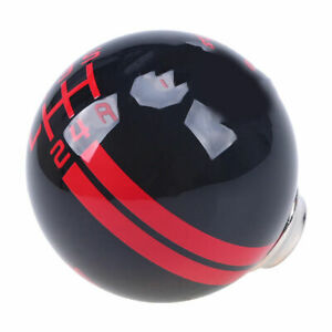 For Ford Mustang Shelby Gt 500 5 Speed Gear Shift Knob Shifter Black Red Ball