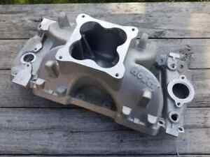 New Holley Bbc Intake Manifold Single Plane 4500 Dominator Carb Or Efi 701r 89