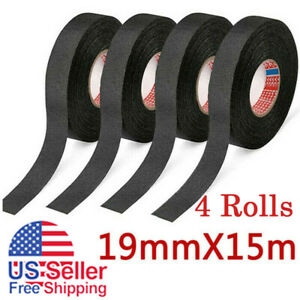 4 Rolls Cloth Tape Wire Electrical Wiring Harness Car Auto Suv Truck 15m Length