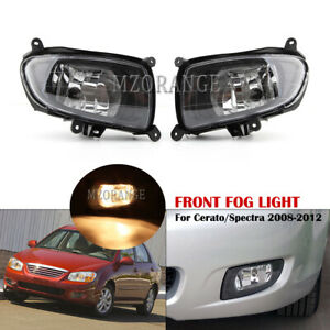 Fog Light Lamp W Bulbs For Kia Cerato Sedan Spectra 2007 2008 2009 2010 L R Pair