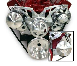 March Performance Sbc Style Track Pulley Set W Power Steering 21155