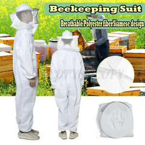 L Professional Beekeeping Full Body Bee Keeping Suit With Veil Equipment Hood