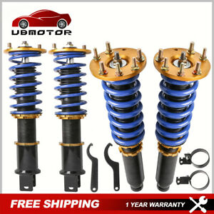 2x Front 2x Rear Coilover Shocks Struts For 2008 2012 Honda Accord Adj Height