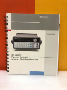 Hp 33120 90005 33120a Function Generator arbitrary Waveform Generator User Guide