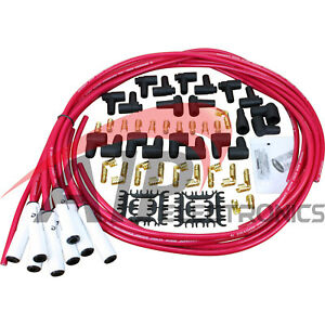 Transparent Red White Ceramic Universal Spark Plug Wire Set For All Vehicles