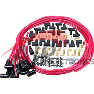 Transparent Red Black Ceramic Universal Spark Plug Wire Set For All Vehicles