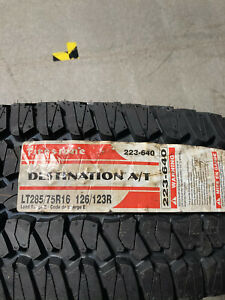 4 New Lt 285 75 16 Lre 10 Ply Firestone Destination A T Tires