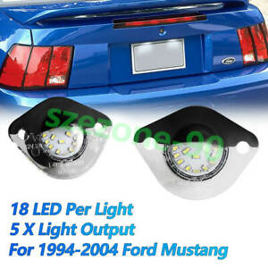 For 1994 2004 Ford Mustang 18 Smd Led License Plate Light Lamp super Bright