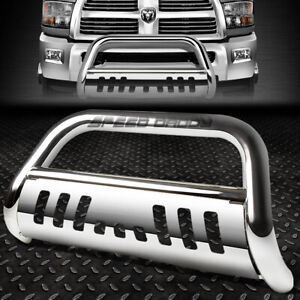 For 10 18 Dodge Ram 2500 3500 Truck Chrome 3 Bull Bar Push Bumper Grille Guard