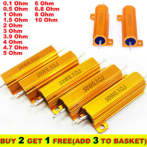 50w 0 1 10 Ohm Power Wirewound Resistor Inverter For Led Light Frequency Divider