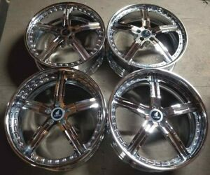 Russtec Forged Wheels Rims 21 Inch Staggered 5x114 3 Chrome