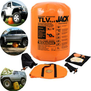 4t Ton Exhaust Inflatable Air Jack Bag Gas Car Vehicle Truck Rescue 11 Tools
