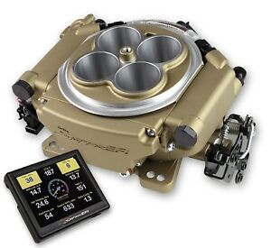 Holley 550 516 Fuel Injection System Self Tuning With Classic Gold Finish