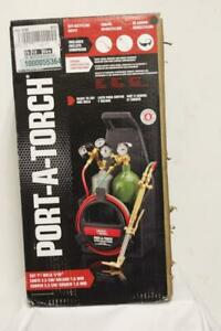 Lincoln Electric Kh990 Port a torch Kit With Oxygen And Acetylene Tanks And 3 16