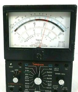 Simpson 260 Series 6xlpm Overload Protected Volt Ohm Multimeter Free Shipping