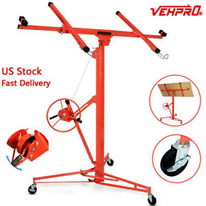 11 Drywall Sheetrock Rolling Lift Panel Hoist Jack Construction Tool Dw11 Red