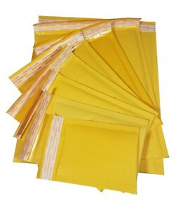 7 X 9 Inbox 150 Pack Yellow Kraft Shipping Bubble Mailers Envelopes More Sizes