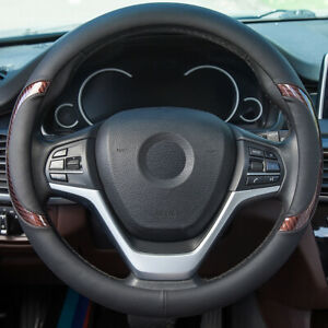Pu Leather Steering Wheel Cover Non Slip Protection Cover Car Accesories 15in