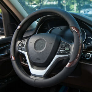 Leather Steering Wheel Cover For Men Breathable Universal Fit For 14 5 15in New