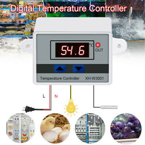 220v Digital Led Temperature Controller 10a Thermostat Control Switch Xh w3001