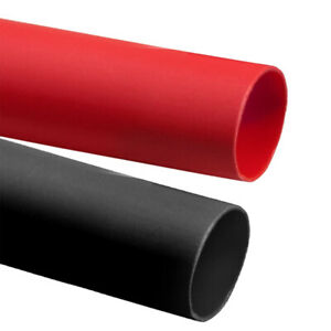 Black Red Adhesive lined Heat Shrinkable Tubing Wrap Cable Wire Waterproof 3 1