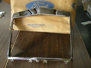Nos Oem Ford 1972 Lincoln Continental Mark Iv Grille Shell Chrome Trim Moulding