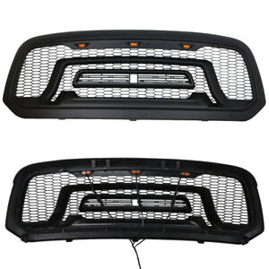 Rebel Style Front Grille Honeycomb Bumper Grill For Dodge Ram 1500 2013 2018 Yrs