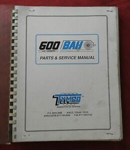 Bah Tymco Model 600 Series Street Sweeper Broom Service Parts Catalog Manual