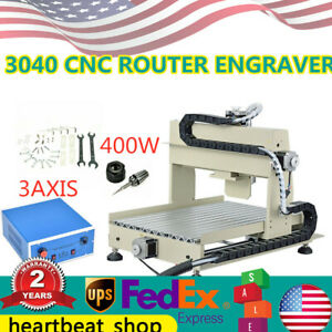 3 Axis Cnc 3040 Router Engraving Milling Drilling Machine 3d Cutter 400w Usa