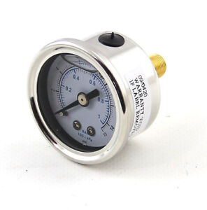 Speedmaster 1 1 2 0 15psi Liquid Filled Fuel Pressure Gauge 1 8 Npt