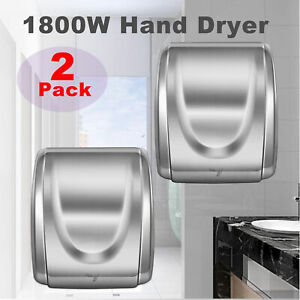 2pcs 1800w Stainless Steel Electric Commercial And Household Auto Hand Dryer