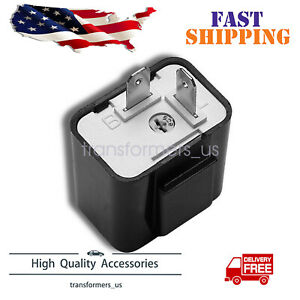Black Adjustable Led Flasher Relay Turn Signal Blinker Light 2pin For Motorcycle