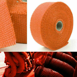 Pipe Orange Roll Tape Header H Fiberglass Wrap High Cover 32 8ft Exhaust Heat