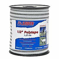 Fi shock 1 2 Electric Fence Polytape 656 Feet 200 Meters