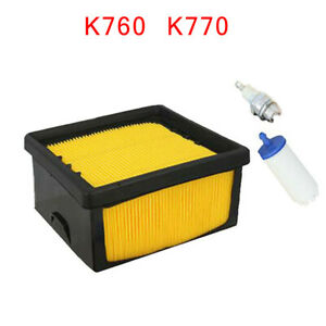 Air Filter Kit For Husqvarna K760 K770 Accessory Parts Cut off Durable